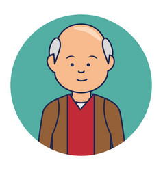 old man ethnicity avatar character vector image