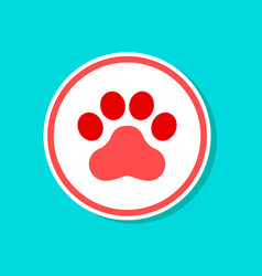 Paper sticker on stylish background dog trail vector