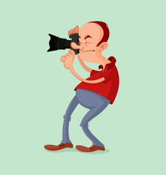 Photographer with camera vector