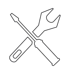 Pictogram support repair tools sign icon vector