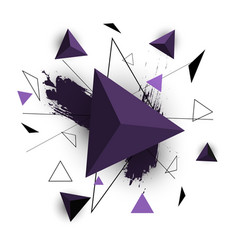 purple triangle abstract on white background vector image