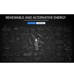 renewable and alternative energy concept vector image