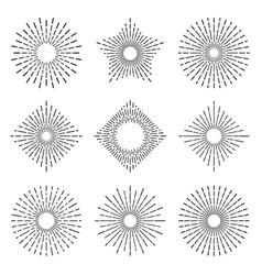 retro sunburst elegant radiant sun rays lines vector image