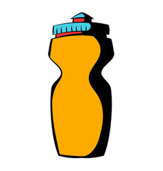 Reusable water bottle icon icon cartoon vector