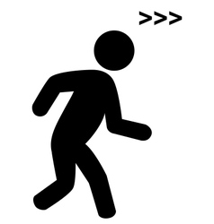 Run man with speed symbol flat icon pictogram vector image