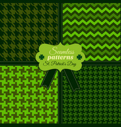 seamless fashion pattern set og green colors in vector image