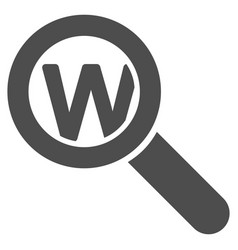 Search word icon vector