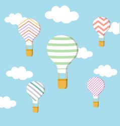 Set air balloons vector