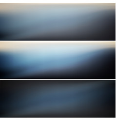 set dark banners vector image
