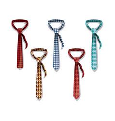 set elegants ties icons vector image