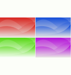 Set of abstract gradient backgrounds for the vector