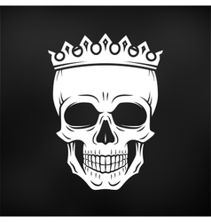 Skull King Crown design element Vintage Royal vector image