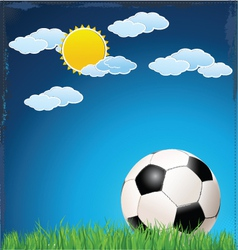 Soccer blue background vector