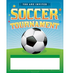 Soccer tournament flyer vector