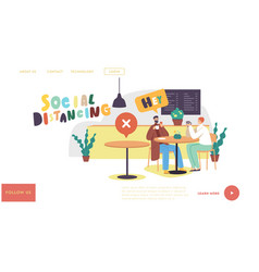 social distancing and new normal landing page vector image