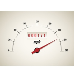 Speedometer on white background vector