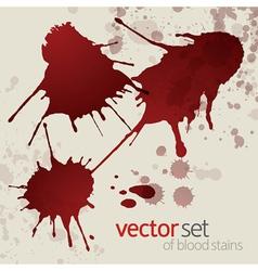 Splattered blood stains set 1 vector image vector image