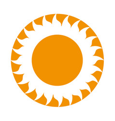 summer sun weather icon vector image