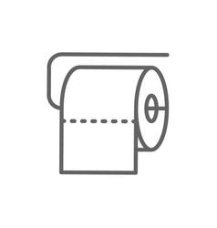 Toilet roll line icon vector