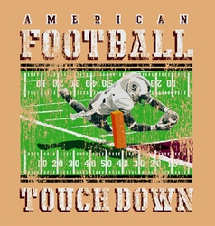 Touchdown football rules vector