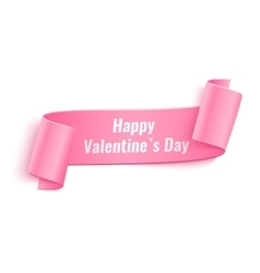 Valentines Day Curved Paper Banner vector image