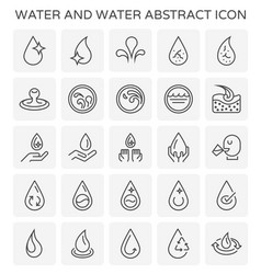 water abstract icon vector image