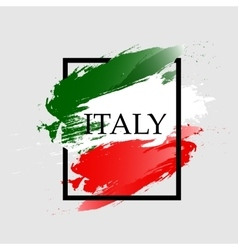 Watercolor frame of Italy color vector