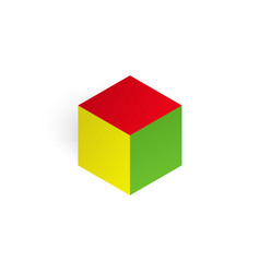 3d color cube vector image