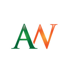 aw letter logo vector image vector image
