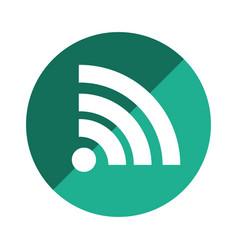 color circular emblem with wifi icon vector image