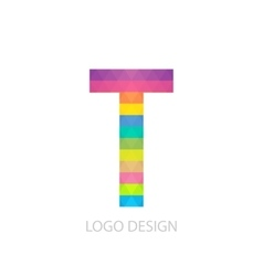 colorful logo letter vector image