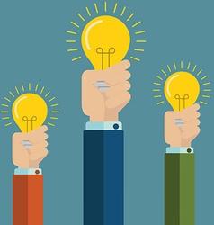 Flat style modern idea innovation light bulb vector image