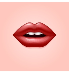 Glamour red woman seductive sexual lips 3d vector image