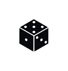 isolated die icon dice element can be us vector image