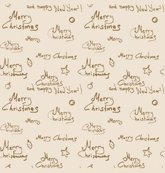 Merry christmas pattern vector