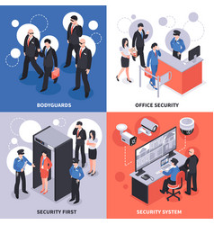 security isometric design concept vector image vector image