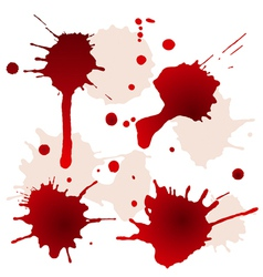 Splattered blood stains vector image