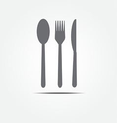 spoon fork and knife vector image vector image