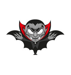 Dracula vampire halloween vector