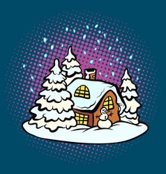 fabulous gingerbread christmas house vector image