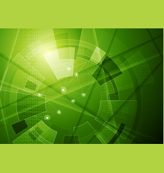 green tech geometric technology background vector image vector image