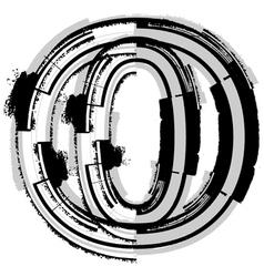 Grunge font letter o vector