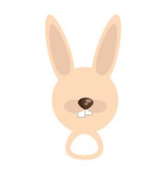 head cute rabbit animal image vector image vector image