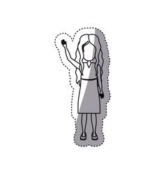 people girl icon image vector image