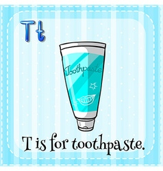 Toothpaste vector image vector image