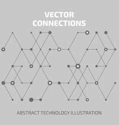 connect abstraction vector image vector image