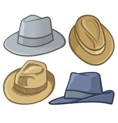fedora hats vector image vector image