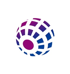 orbit technology globe abstract logo vector image