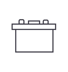battery auto line icon sign vector image