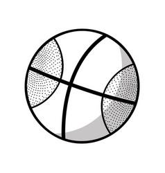figure basketball ball to training play game sport vector image vector image